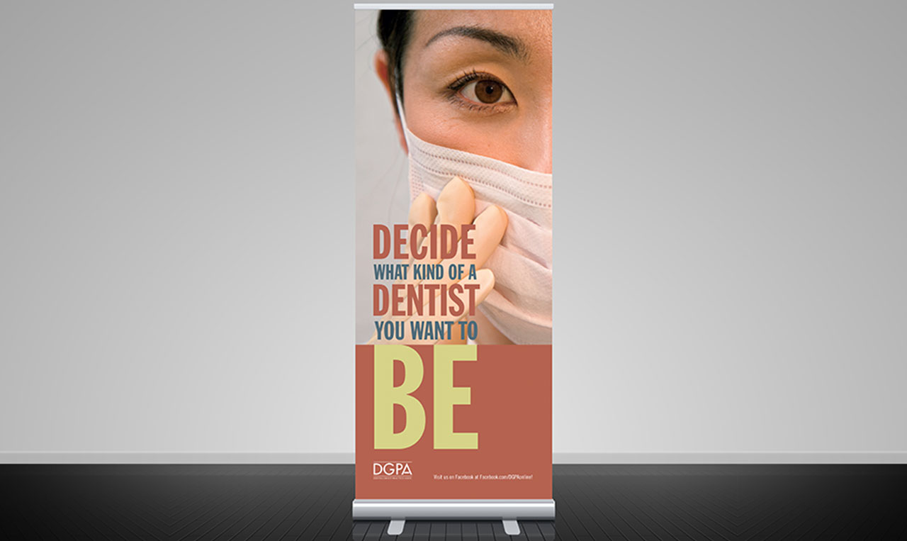 DGPA Student floor full size Retractable Banners