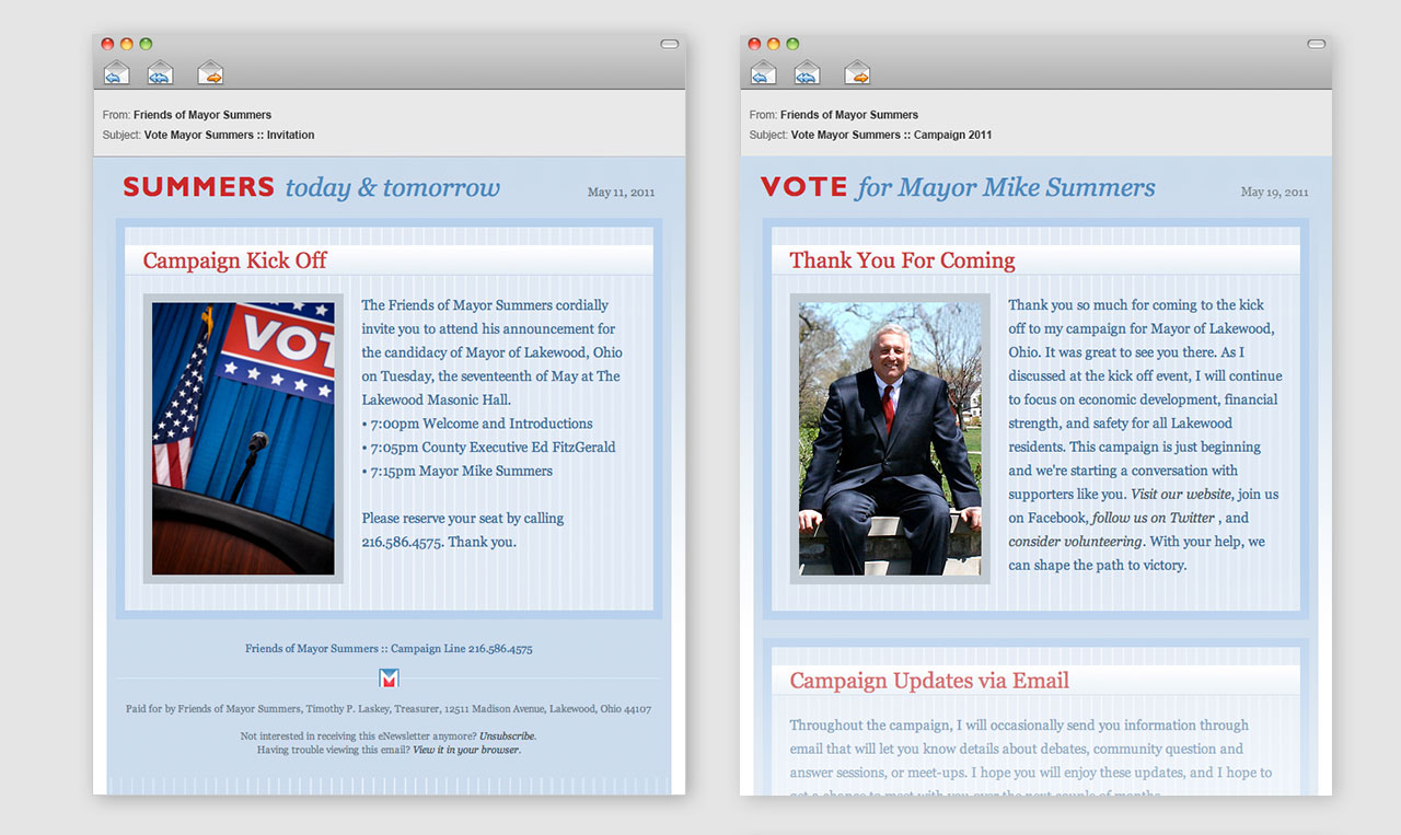 Mike Summers Campaign eNewsletter.